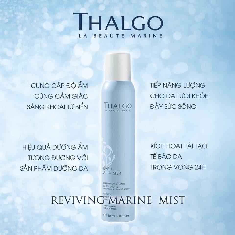 THALGO] Xịt khoáng khóa nền, cấp ẩm Reviving Marine Mist Thalgo 50ml |  Shopee Việt Nam