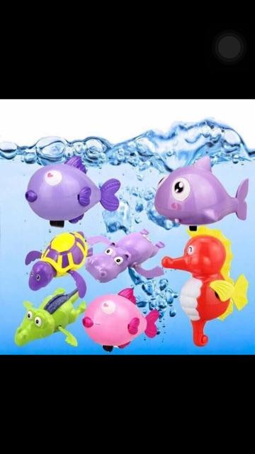 Đồ chơi tắm bé thú biết bơi combo10