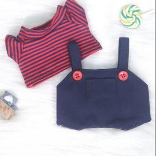 [Outfit doll] Set yếm đen nút đỏ