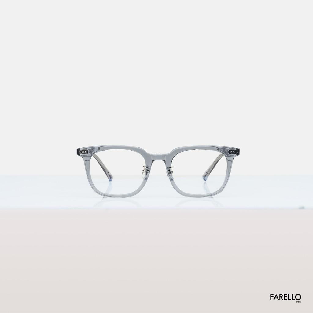 Gọng kính cận FARELLO mắt vuông, chất liệu nhựa cứng, phù hợp với nhiều khuôn mặt FIONA - 98302