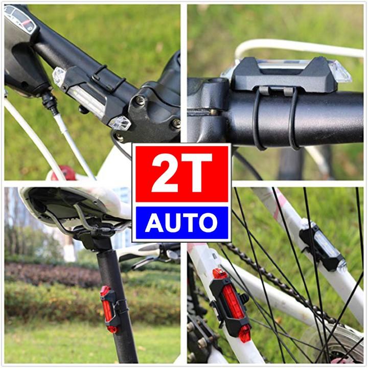 ĐÈN LED CẢNH BÁO GẮN ĐUÔI XE ĐẠP SẠC QUA CỔNG USB SIÊU CHẤT 4 CHẾ ĐỘ SÁNG - Đèn hậu xe đạp SKU 355