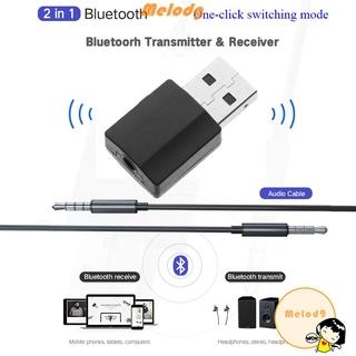Bộ Thiết Bị Nhận Tín Hiệu Âm Thanh Bluetooth 5.0 2 Trong 1 Giắc Cắm Usb 3.5mm
