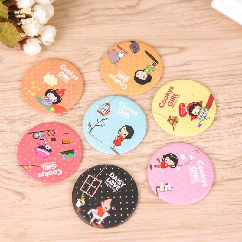Gương mini cầm tay phong cách Hàn Quốc - shop giao mẫu ngẫu