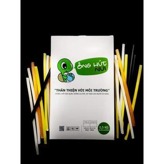 Ống hút bột gạo cao cấp Noodle Straw hộp giấy 500G (120 ống) ăn được, phân hủy sinh học, bảo vệ môi trường thumbnail
