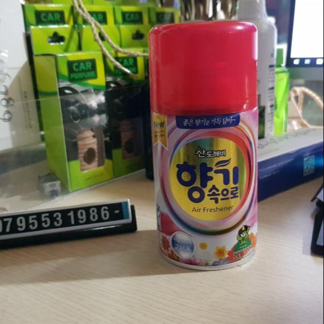 Bình Xịt Khử Mùi Ô Tô- Lọ Xịt Thơm Hương Cafe Hàn Quốc Đa Năng