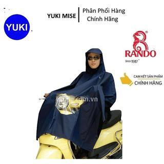 Áo mưa Poncho vải BEST có kiếng phủ đèn xe máy RANDO YUKI MISE Phân Phối Chính Hãng💯