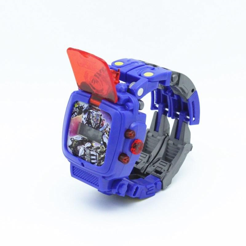 Đồng Hồ Đeo Tay 2 Trong 1 Hoạ Tiết Hoạt Hình Transformers Cho Bé