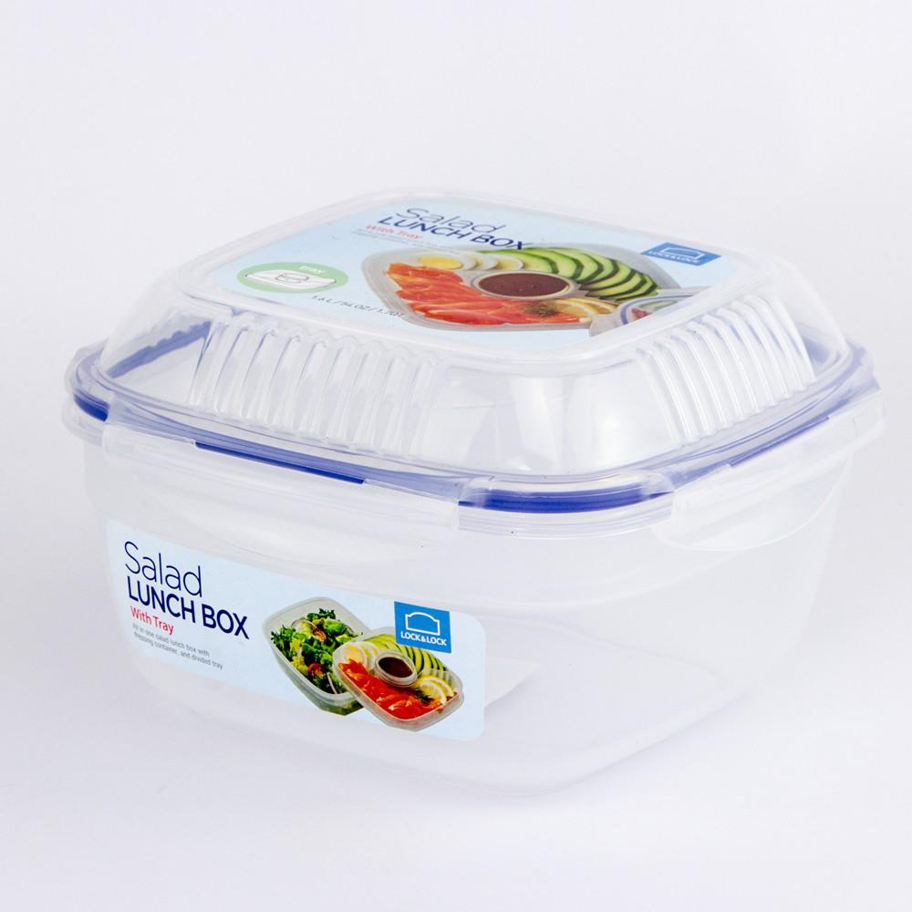 Tô Salad 1.6L W/Khay&Khay nước sốt Lock&Lock - HSM8450T