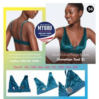 Áo bralette 56 Velvet Venetian Teal, màu xanh, gài sau, không mút - Size M - Victoria s Secre thumbnail