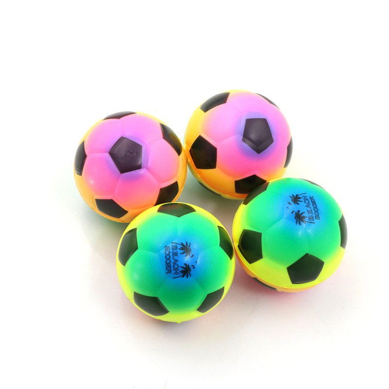 1PC Colorful Mini Football Squeeze Foam Ball Stress Relief Vent Ball Kids Toy