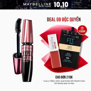 Mascara Dài Mi và Cong Mi Maybelline New York Hyper Curl Waterproof Chuốt Mi Đen Không Lem Không Trôi  9.2ml