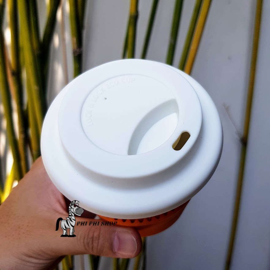 Ly sứ nắp Silicone Lock&Lock Eco Life dung tích 370ml SLB003