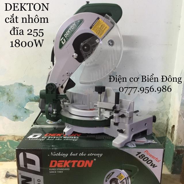 Máy cắt nhôm DEKTON cắt xoay 45 độ đĩa cắt 255 1800w