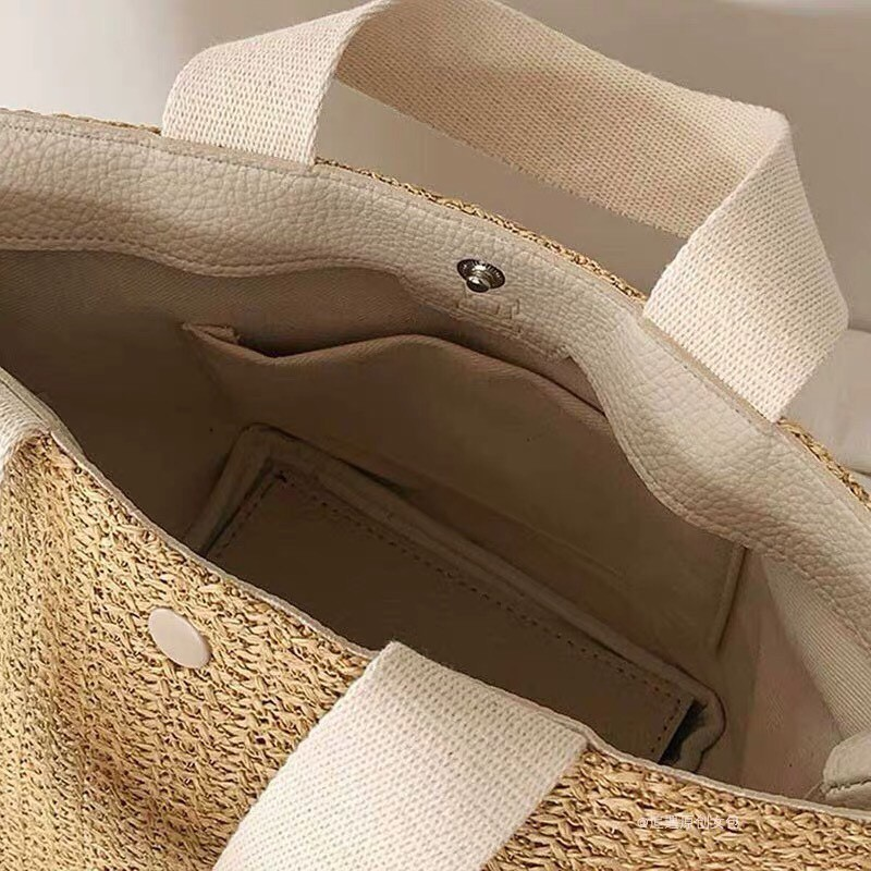 Túi Cói Cầm Tay Vintage Hàng Cao Cấp