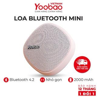 Loa Bluetooth mini Yoobao M1 - Dung lượng 2000mAh - Công suất 3W - Hàng chính hãng - Bảo hành 12 tháng 1 đổi 1