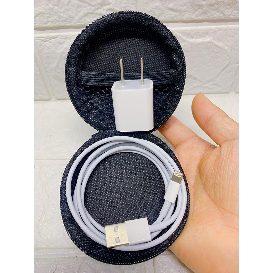 Sạc iPhone - Bộ Cáp Sạc IPhone Vuông/ Dẹt Tương Thích IP 5/6/7/8/X/ XSMAX [Bảo Hành 12 Tháng]