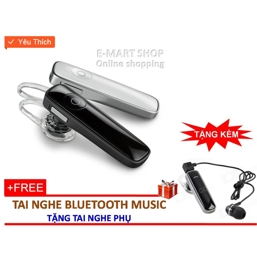 Tai nghe Bluetooth music M165 + Tặng tai nghe phụ, Không hại tai khi nghe lâu