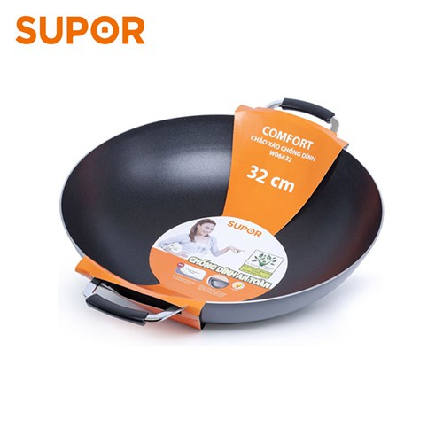 Chảo xào chống dính Comfort Supor W06A32 32cm (Đen) - 3609389 , 1198440351 , 322_1198440351 , 366900 , Chao-xao-chong-dinh-Comfort-Supor-W06A32-32cm-Den-322_1198440351 , shopee.vn , Chảo xào chống dính Comfort Supor W06A32 32cm (Đen)