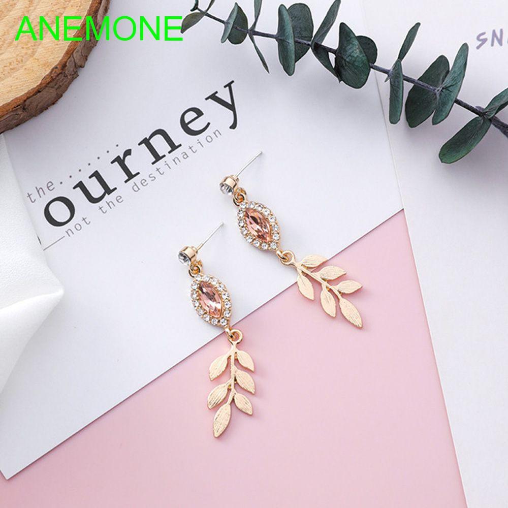 Leaves for Women Charms Shiny Rose Earrings
