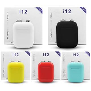 Tai Nghe Bluetooth i12 TWS cảm biến vân tay – Có tặng case đi kèm – BH 1 đôi 1
