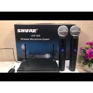 Micro không dây shure UHF 555 cho giọng hát vàng