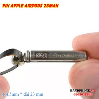Pin trụ thay thế cho tai nghe Bluetooth Apple Airpods 1 2