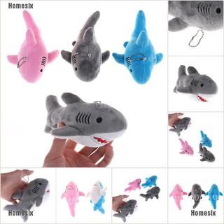 [QHMSI] Children Birthday Gift 18cm Cute Shark Plush Toy Pendant Keychain Stuffed Animal toy TYU
