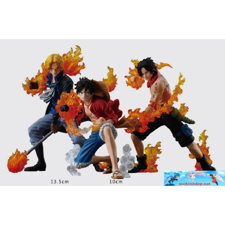 [MHĐ] Bộ mô hình Luffy ACE Sabo – attack styling – One piec