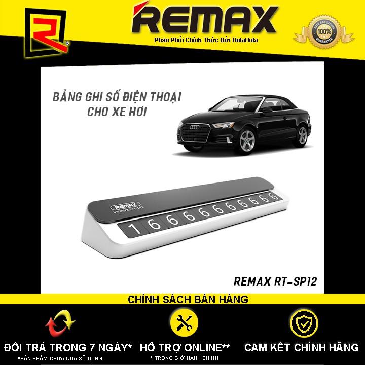 Bảng ghi số điện thoại cho xe hơi bằng kim loại Remax RT-SP12