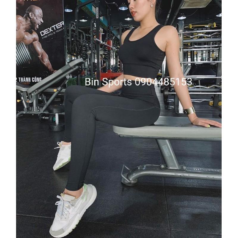 Đồ Tập Gym Yoga Nữ Bộ Quần Dài Áo Bra Kèm Mút Cao Cấp BD051[ Hỗ Trợ Đổi Trả Miễn Phí ]