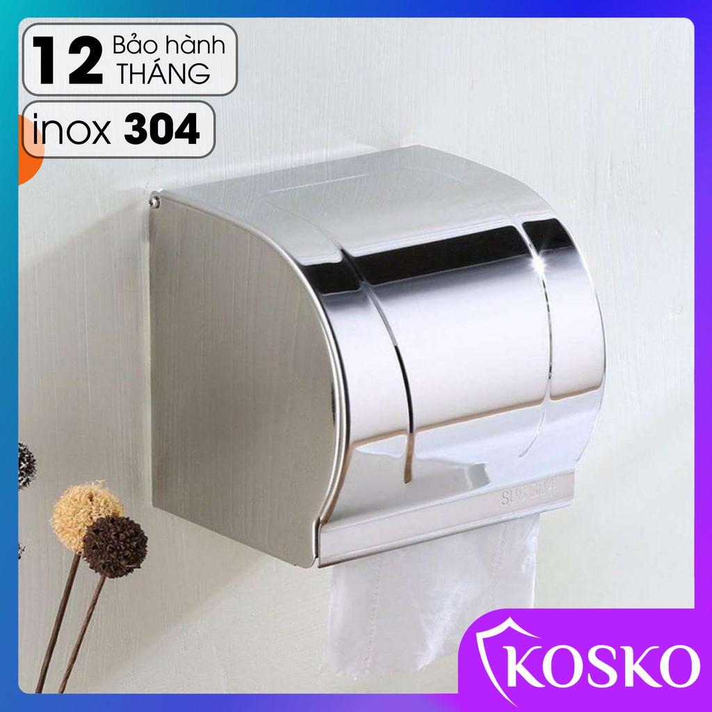 Hộp đựng giấy vệ sinh KOSKO inox 304 gắn tường cao cấp, chống ướt giấy không hoen gỉ trong môi trường chất tẩy rửa K-HG3