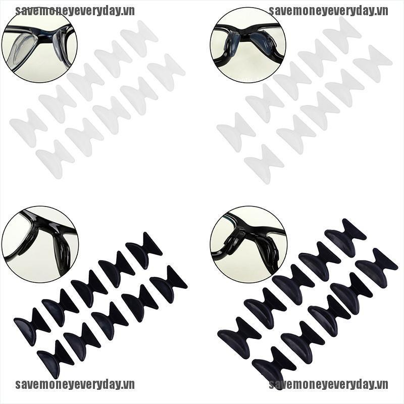 [Save] 5Pairs Glasses Eyeglass Sunglass Spectacles Anti-Slip Silicone Stick On Nose Pad [VN]