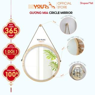 Gương Tròn Treo Tường Khung Gỗ BEYOURs Mia Circle Mirror Nội Thất Kiểu Hàn Lắp Ráp thumbnail