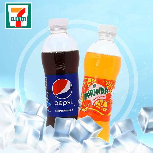 E-Voucher 2 chai nước 7Up, Pepsi, Mirinda 390ml tại 7-Eleven