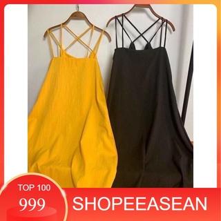 Váy 2 Dây – Váy maxi đan lưng chất đũi siêu mát