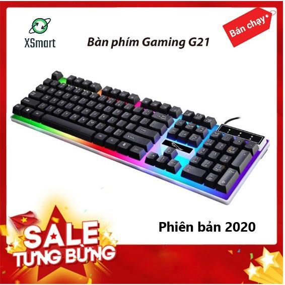 Bàn phím giả cơ GAMING G21 PRO 2020 đèn LED 7 màu độc đáo, chơi game trên máy tính, pc siêu tốt - XSmart
