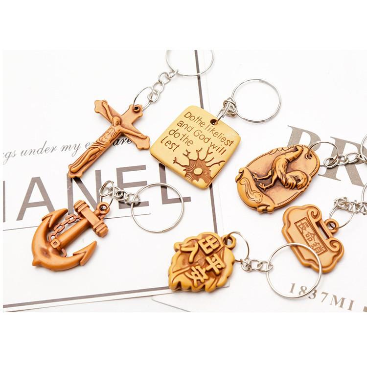 Móc chìa khóa giả gỗ thủ công mỹ nghệ