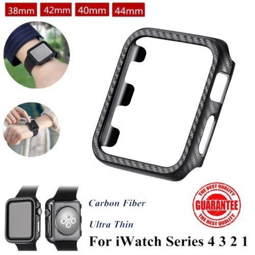 Ốp đồng hồ thông minh pha sợi carbon cho Apple Watch Series 4 3 2 1 38 / 42 / 40 / 44mm