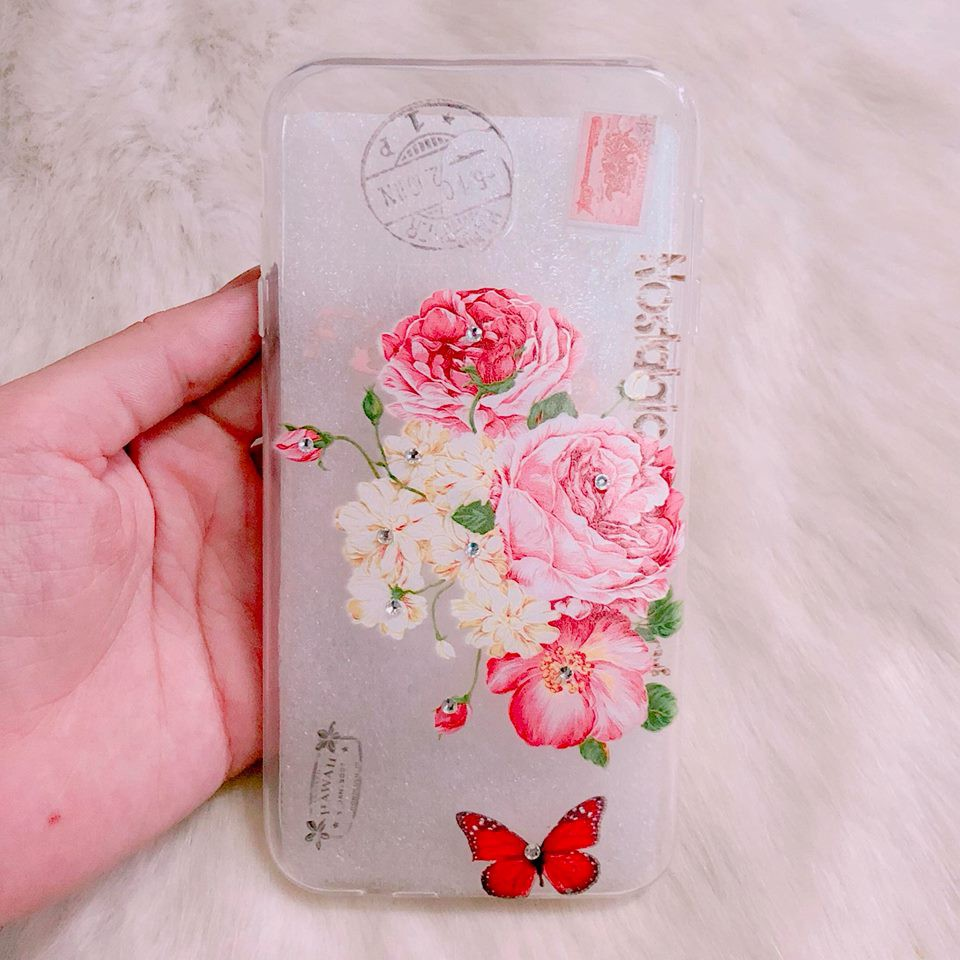 Ốp Nokia 5 hoa đính đá