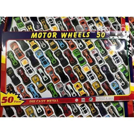 bộ 50 ô tô sắt motor wheels