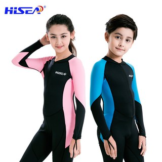 0.5mm children's one-piece swimsuit sunscreen diving suit boys and girls long-sl