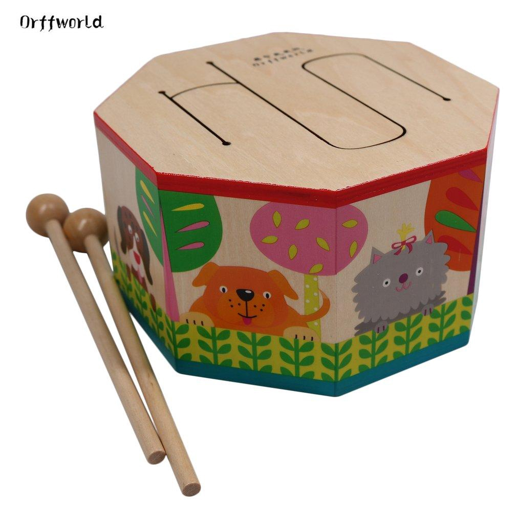 Orff world Cartoon Wood Hand Drum Beating Instrument with Three Tone SYG(S)