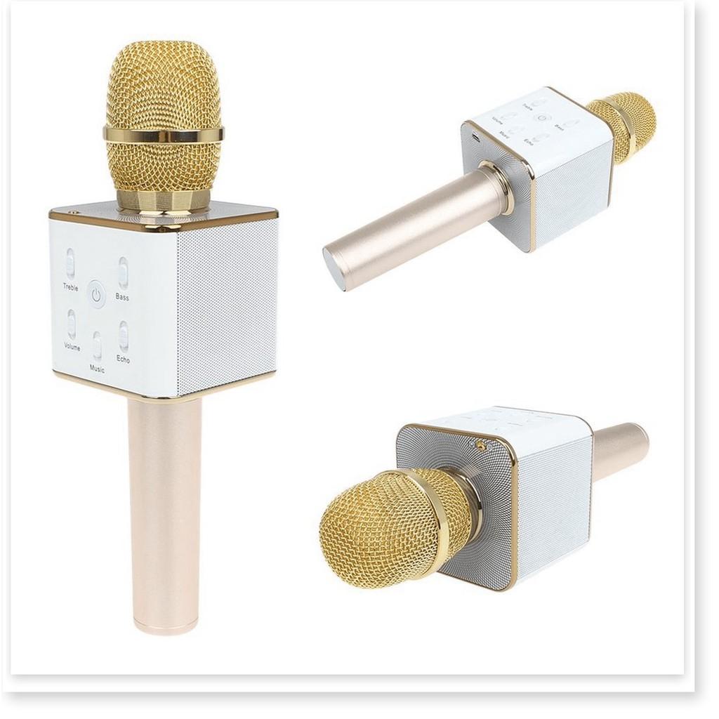 Micro hát Karaoke tích hợp Loa Bluetooth Q7 - Micro thu âm