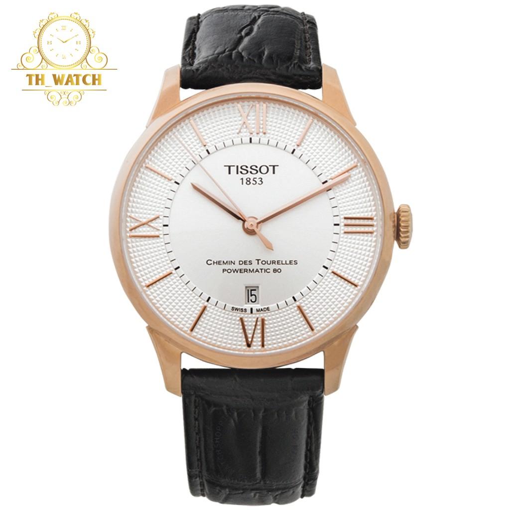 Đồng hồ Tissot 1853 Nam automatic Power matic 80 dây da cao cấp, kính shapphire T099.407.36.038.00