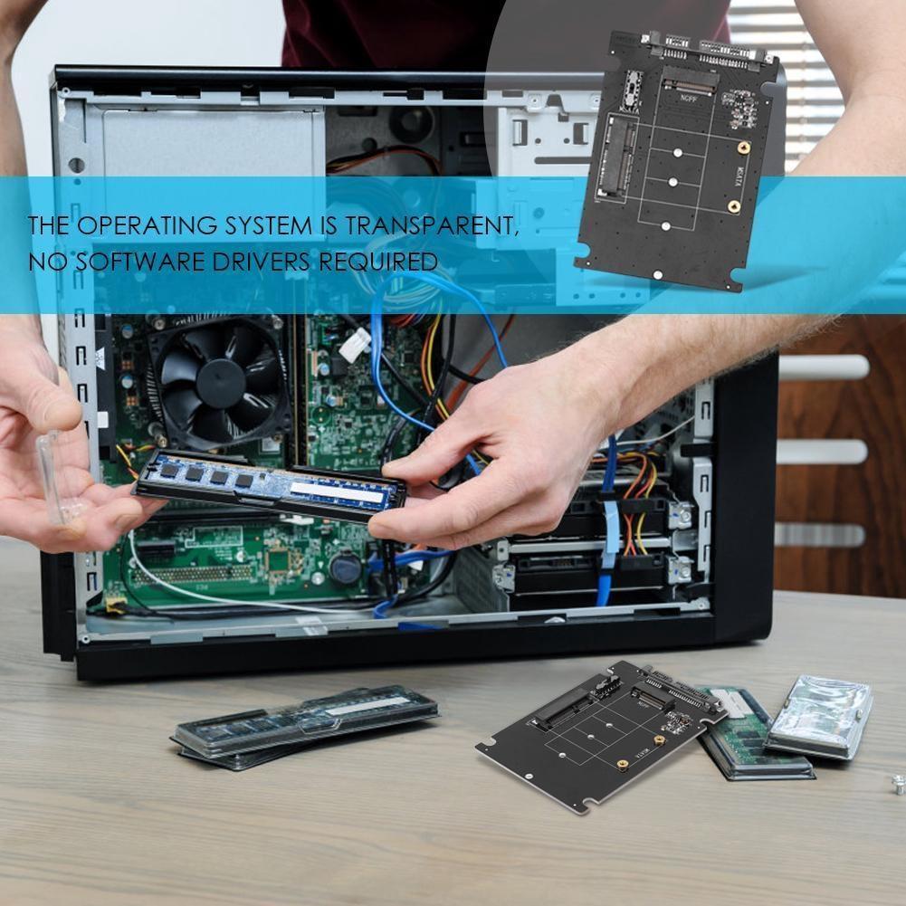 Converter Computer Accessories M.2 To SATA3 MSATA SATA NGFF Expansion PCB Adapter Giá chỉ 119.000₫