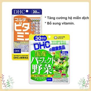 Combo Viên uống DHC Tăng Cường Hệ Miễn Dịch 30 Ngày (Rau Củ & Multi Vitamin)