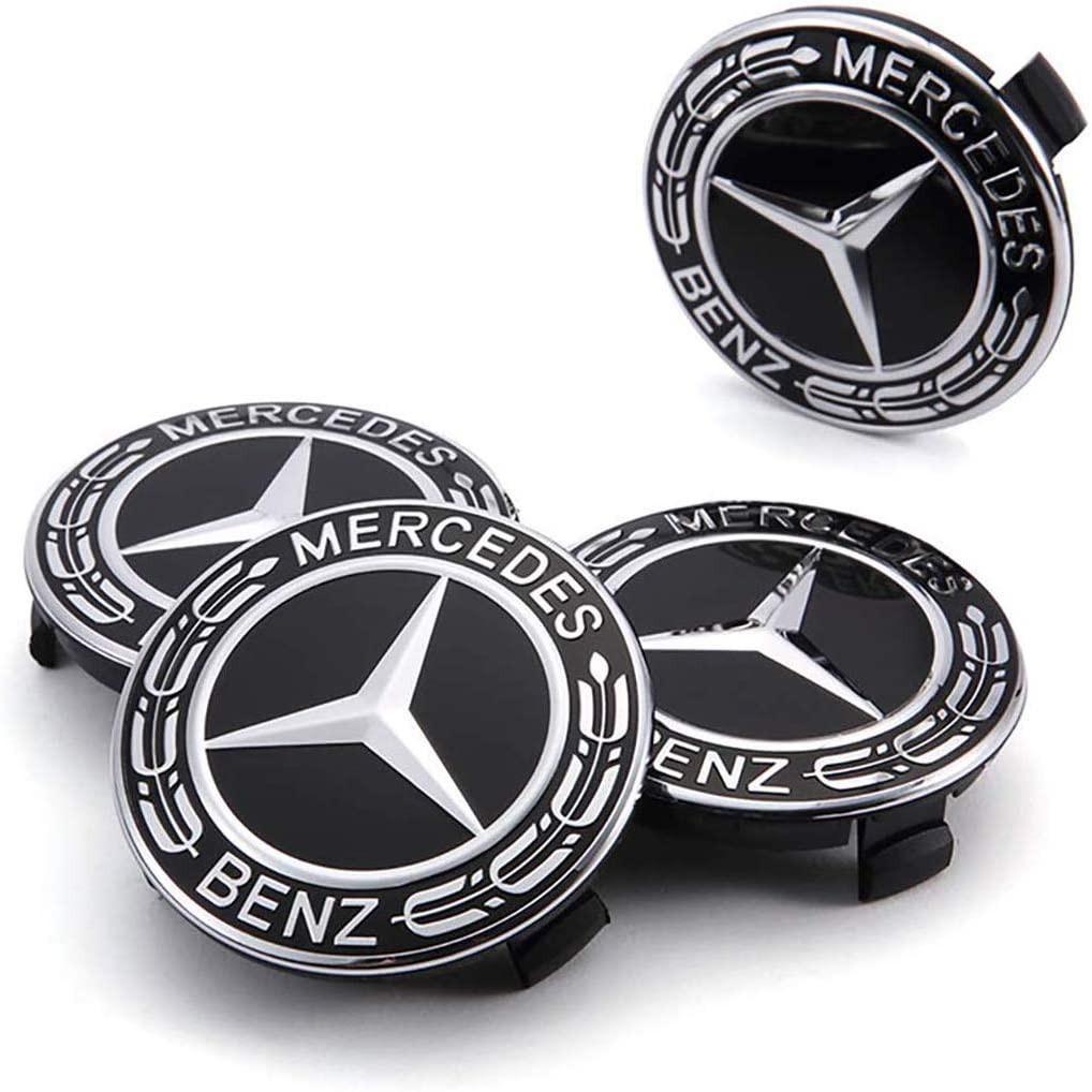 Logo Chụp Mâm Bánh Xe Ô Tô Mercedes Benz Đường Kính 75mm