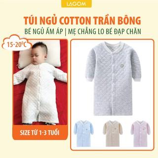 [COTTON TRẦN BÔNG] Túi Ngủ Cho Bé Cotton Trần Bông Ấm Áp, Dạng Áo (Video + Ảnh Thật) thumbnail