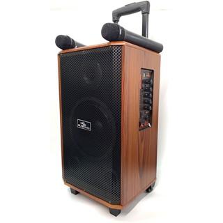 Loa Vali Kéo Di Động Karaoke Bluetooth Kiomic K88 Âm Thanh Siêu Đỉnh(Tặng 2 micro không dây hát cực hay K-88)