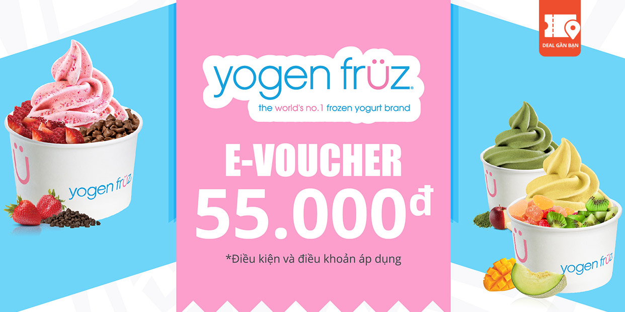 E-Voucher Yogen Fruz Ice Cream / Yogurt 55,000